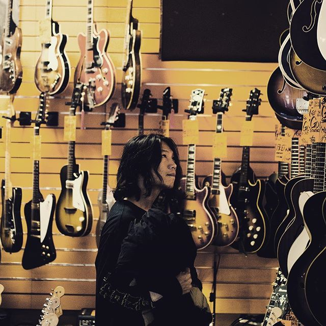 Crystal lake checking out guitars